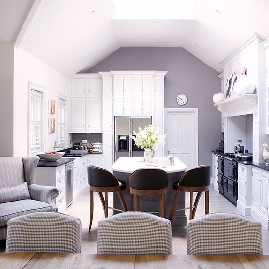 Kitchen Diner Layout Ideas: Open-plan Kitchen Diner With Co-ordinating Colour Scheme