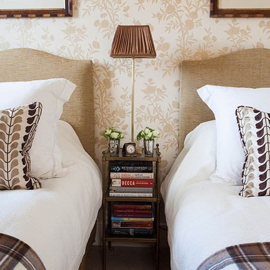 Hotel style room with his and hers beds guest bedroom for His and her bedroom decorating ideas
