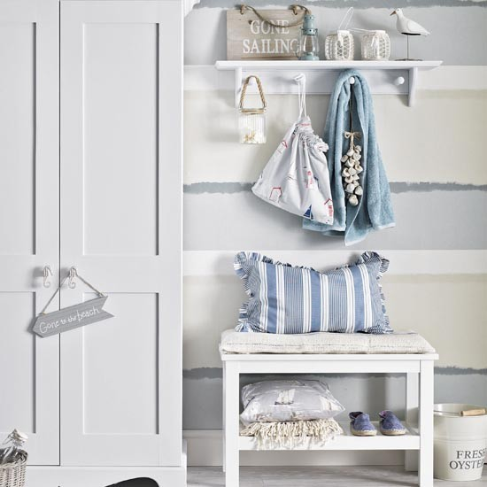 Fresh blue and white coastal hallway | Small hallway design ideas | Hallway | PHOTO GALLERY | Ideal Home | Housetohome.co.uk