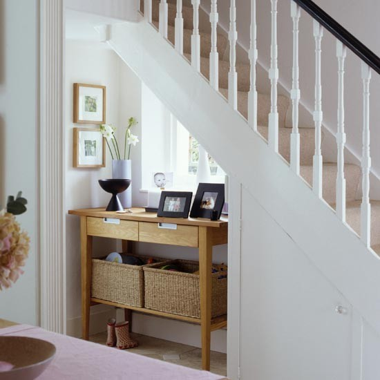 Hallway understairs hideaway small hallway design ideas for Interior decoration under staircase