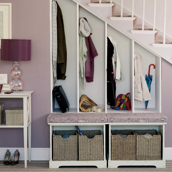 Built-in hallway storage | Small hallway design ideas | Hallway | PHOTO GALLERY | Ideal Home | Housetohome.co.uk