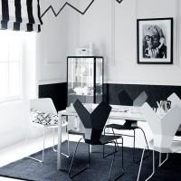 Modern monochrome dining room