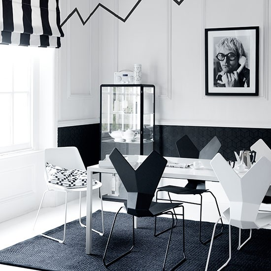 Modern Monochrome Dining Room Decorating Housetohome Co Uk