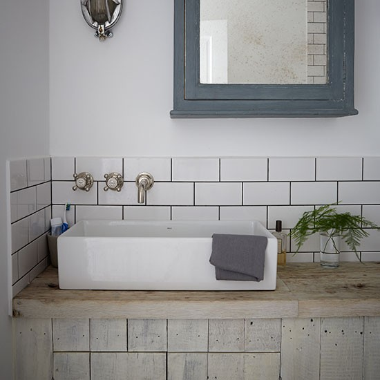 Industrial style bathroom with metro tiles decorating for Metro tiles bathroom ideas