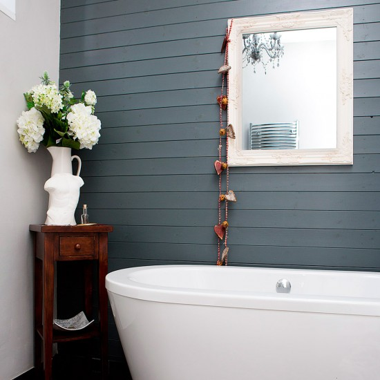 Traditional Grey Panelled Bathroom House Tour Contemporary Home In Tyne Wear Housetohome