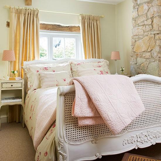 Neutral Bedroom With Floral Bedlinen