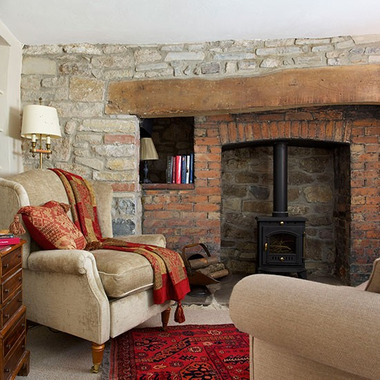 Natural Stone Living Room Decorating