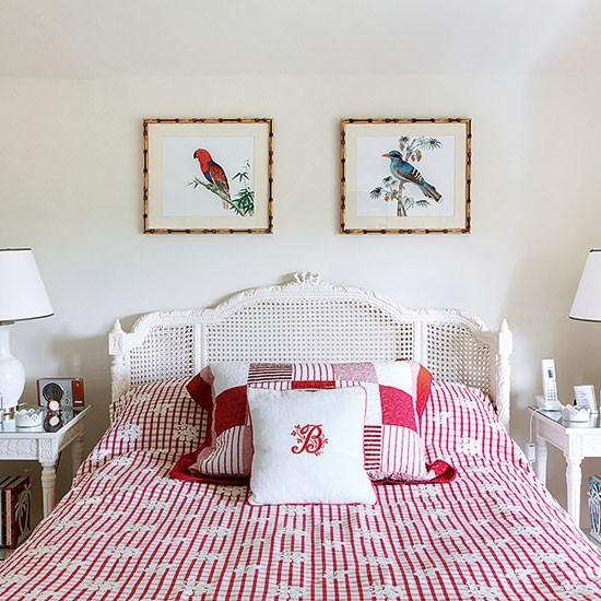 Neutral Bedroom With Pink Bedlinen
