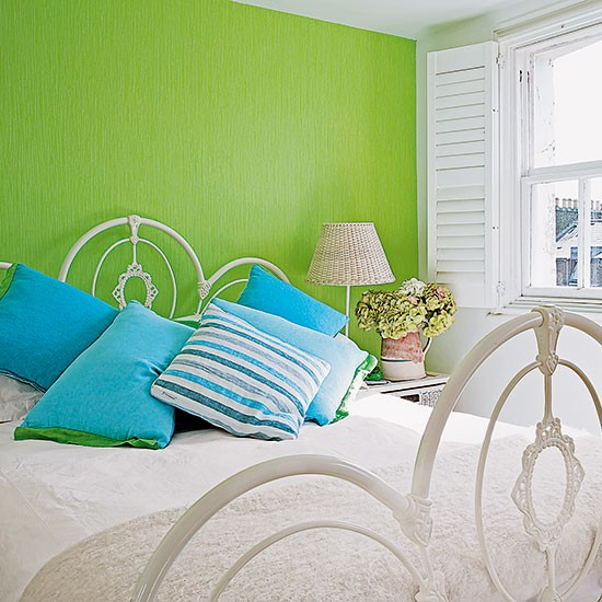 Bright Green And White Bedroom Decorating Housetohome