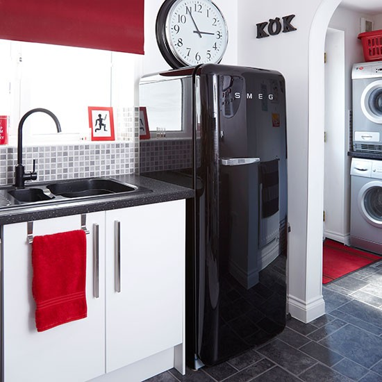 black red and white kitchen kitchen decorating style at home