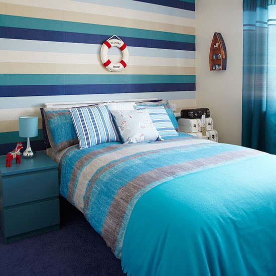 Turquoise and cream bedroom | Decorating | housetohome.
