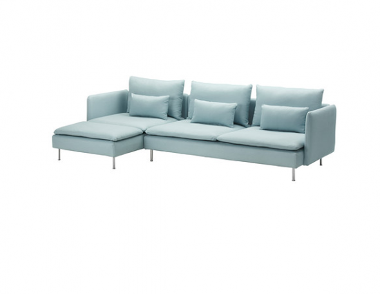 Soderhamn three seater sofa and chaise longue from ikea for Chaise longue ikea uk