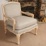 Go for timeless elegance with this French-style armchair