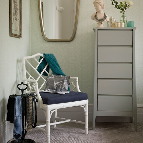Pale Green And Grey Bedroom Decorating
