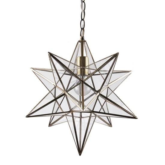 Star pendant light uk democraciaejustica star lantern antique brass ceiling pendant light by aloadofball Gallery