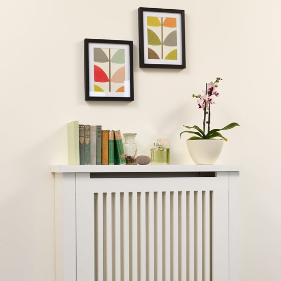 Neutral Radiator Cover With Shelf Shelving Ideas
