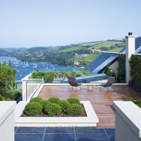 Take a tour of this Minimalist home with views across Devon's Salcombe Estuary