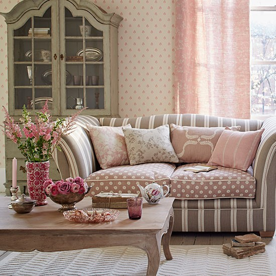 Pink And Taupe Living Room Decorating Housetohome Co Uk