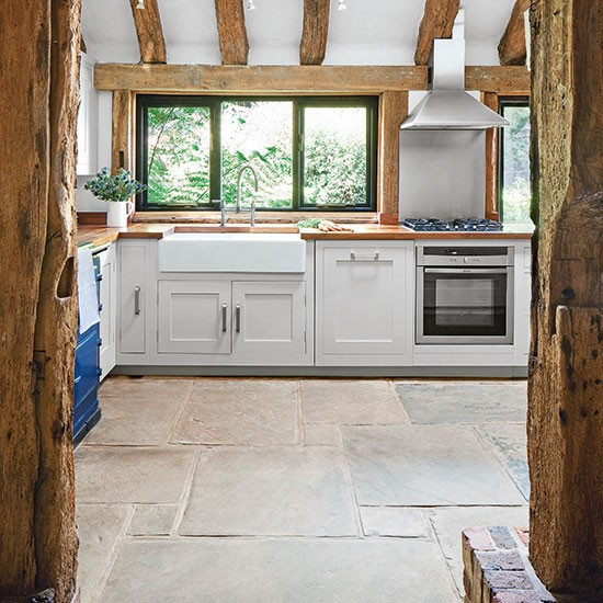 Kitchen appliances | Pale grey country kitchen | Kitchen tour | PHOTO GALLERY | Beautiful Kitchens | Housetohome.co.uk