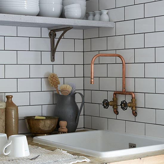 Industrial Style Kitchen Faucet: Victorian Terrace Flat In London
