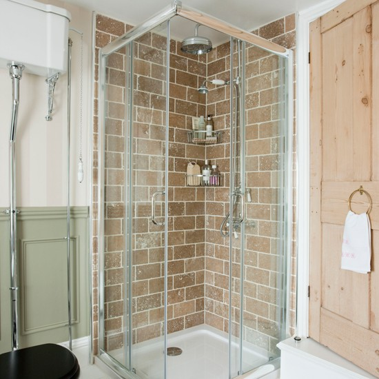 Bathroom With Corner Shower Enclosure Small Space Bathroom Ideas Design