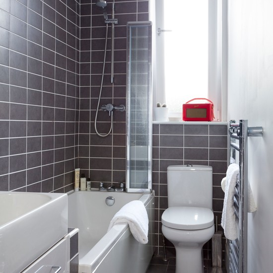 dark gray tile in small bathroom images