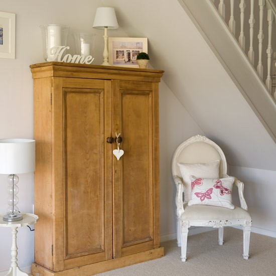 Hallway With Understairs Cupboard And Chair Small