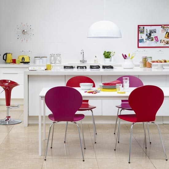 Bright and contemporary kitchen diner Family kitchen  : Bright coloured and contemporary kitchen diner ideal home housetohomecouk from housetohome.co.uk size 550 x 550 jpeg 53kB