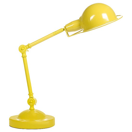 george home yellow retro desk lamp from asda retro. Black Bedroom Furniture Sets. Home Design Ideas