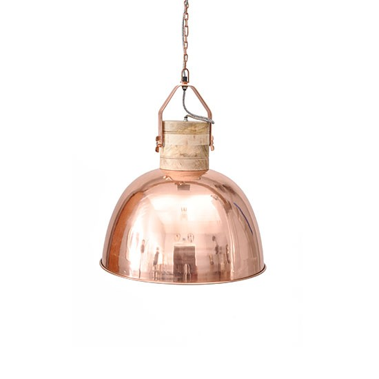 Merle Copper Pendant From Barker And Stonehouse