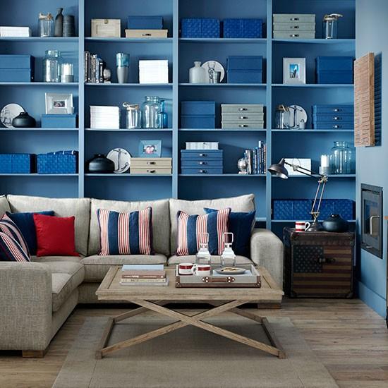 Nautical Home Decor Uk: Nautical Blue Living Room