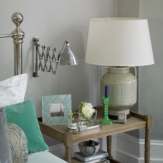 Bedroom With Mint Accessories