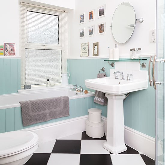 Duck egg blue bathroom spring decorating ideas B q bathroom design service