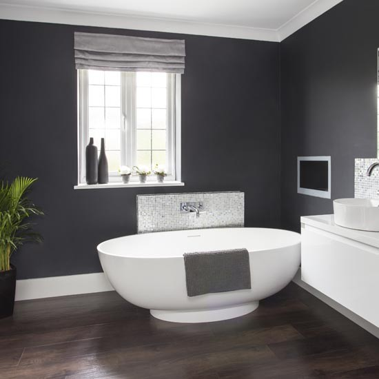 dark grey bathroom walls dramatic dark grey bathroom