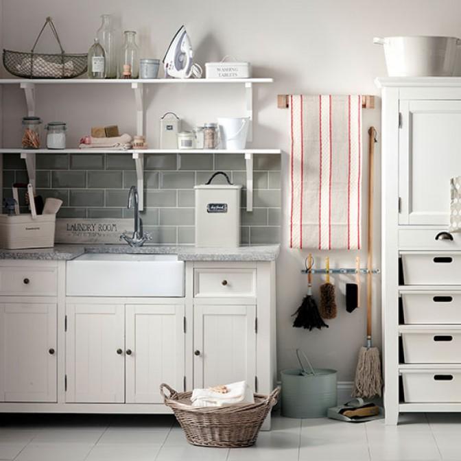 Organised neutral utility room