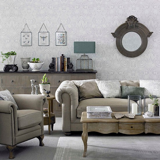 style living room in cool neutrals decorating