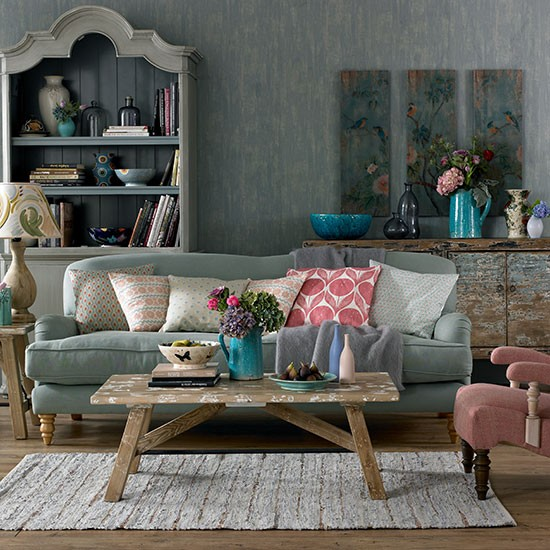 Bohemian 1920s Feel Living Room Decorating Housetohome