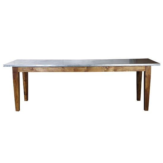 long metal topped dining table from cox cox dining tables photo