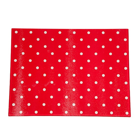 red polka dot glass worktop saver from asda spots micro. Black Bedroom Furniture Sets. Home Design Ideas