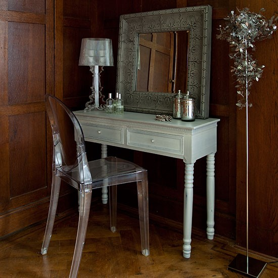 Stylish darkwood bedroom dressing area decorating for Dressing area in bedroom