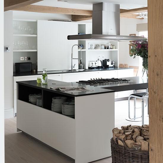 Kitchen With Black Worktops: White Kitchen With Black Worktops