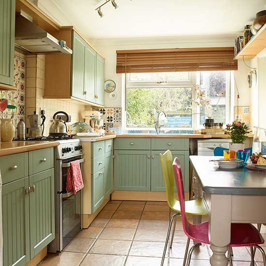 Sage Green Painted Kitchen Units