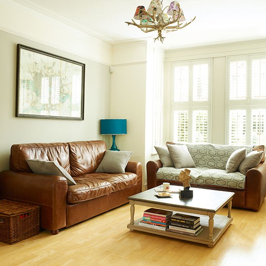 white living room with leather sofas living room decorating style
