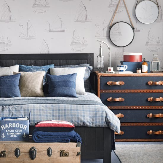 Nautical themed bedroom | Traditional bedroom design ideas | Bedroom | PHOTO GALLERY | Ideal Home | Housetohome.co.uk