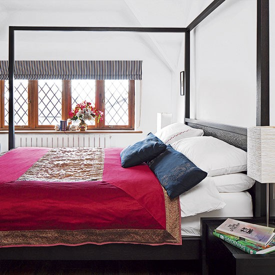 White Bedroom With Four-poster Bed