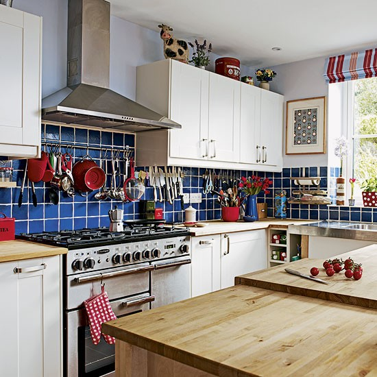 blue tiled country style kitchen kitchen decorating 25 beautiful