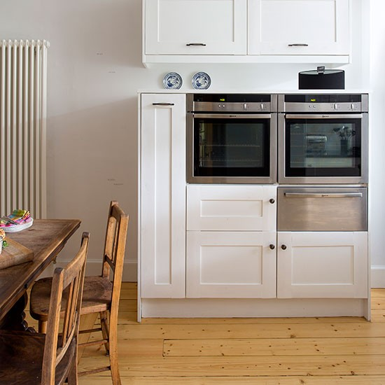 Kitchen Built In Ovens ~ White kitchen with built in ovens decorating
