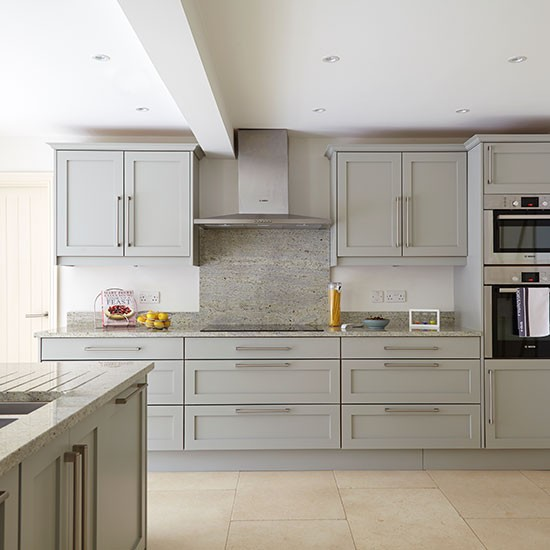 Grey Kitchen With Stone Flooring