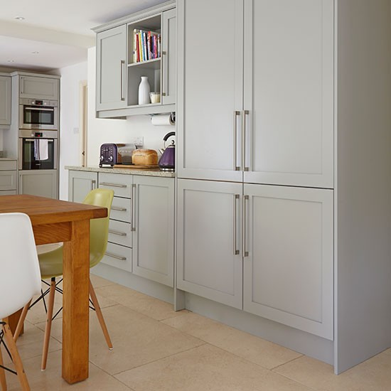Grey painted shaker kitchen painted kitchen design ideas for Kitchen ideas shaker