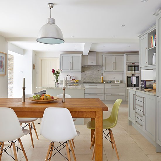 Open plan Grey Kitchen Diner Decorating Housetohomecouk